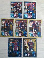 Match Attax 19/20 2019/20 set of Lionel Messi cards inc Gold 100 Club Centurion
