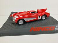 Slot car Scalextric Ninco 50584 Corvette Speed Recor Red #2