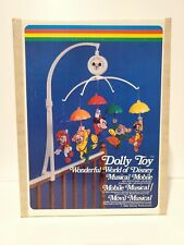 Vintage Dolly Toys Wonderful World of Disney Musical Crib Mobile Mickey Mouse