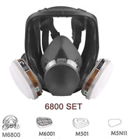 Gas Mask Full Face Facepiece Respirator with Carbon Filters for 6800 Painting