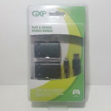 GXP PLAY and CHARGE DOUBLE BUNDLE for XBOX 360 CONTROLLERS =RECHARGEABLE BATTERY