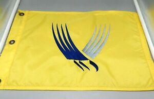 Yellow Valhalla golf pin flag