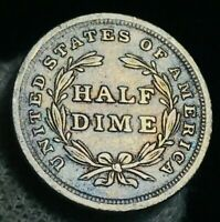 1839 Seated Liberty Half Dime 5C No Drapery High Grade US Silver Coin CC2468