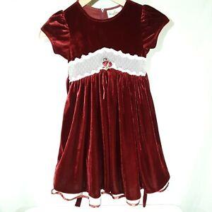 Rare Editions Girls Christmas Dress Sz 6 Maroon Velvet Tulle Holiday Dress