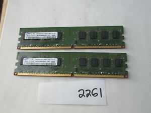 Samsung M378T5663EH3-CF7 2x2Gb=4Gb PC2-6400 800Mhz DDR2 Desktop Memory RAM 2261