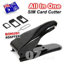 All in 1 For Samsung Galaxy Note S 6 5 4 3 2 Nano Micro Sim Card Cutter Adapters