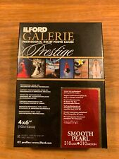 """ILFORD GALERIE PRESTIGE INKJET PHOTO PAPER SMOOTH PEARL 4X6"""" 100 SHEETS"""