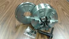 """8"""" 6-JAW SELF-CENTERING  LATHE CHUCK w.solid jaws, w. D1-4 adapter--new"""