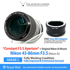 ⭐SERVICED⭐ NIKON 43-86mm F3.5 *CONSTANT*+ Sony E-mount Adapter [FULLY WORKING]