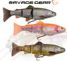 Savage Gear 4D Line Thru Trout Swim Baits Pike Lure Fishing Predator Tackle Chub