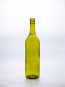 750ml Autumn green glass screw top clear wine bottles with Nova twist caps