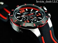 NEW Invicta Men's 52mm S1 Rally Turbo Quartz Chronograph Black/Red Dial SS Watch