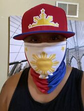 Face Mask Adult Gaiter Bandana Filipino Pinoy Philippines 3 Stars And Sun Flag 1