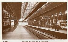 Preston Railway Station NMo 9 Platform unused RP old pc 1924 WHS Kingsway