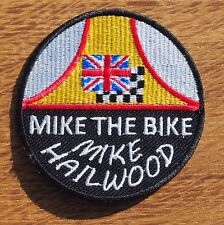 Motorcycle Biker Cafe Racer Rocker Ton Up IOM TT Cloth Patch Badge MIKE HAILWOOD