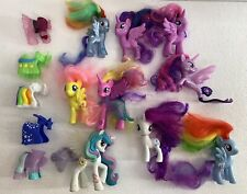 "My Little Pony Lot of 9 assorted ponies with accessories sizes 3"" & 4"""