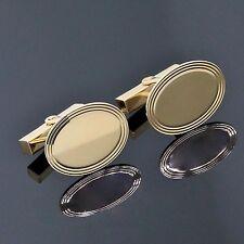 Vintage Estate Tiffany & Co. Men's Jewelry 14K Yellow Gold Oval Cufflinks