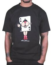 Deadline Mens Black or White Ass of Spades Playing Card Girl Booty T-Shirt NWT