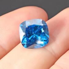 Unheated Ceylon Blue Sapphire 8.71 Carats Cushion Shape 10*10mm Free Shipping