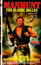 """VHS - """" MANHUNT for Claude DALLAS """" (1986) - Rip Torn - Matt Salinger"""