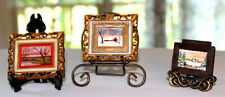 3 Tiny/Miniature Framed Pictures for Dollhouse - So Cute!