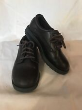 SKECHERS Lifestyle Brand 92 Boys Size 11 M Brown With Laces School Dress Lea