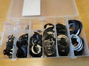 E Clips Metric - Multi set -Sizes 1.5 - 22 mm- external retaining clips