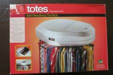Totes Mini Revolving Tie Organizer Holds 30 Individual Tie Rack with Lamp New