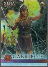 XENA SEASON 4/5 RENEE O'CONNOR GABRIELLE BATTLING BARD SHINY FOIL CHASE CARD #G9