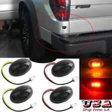 4x Smoked Lens LED Fender Bed Side Marker Lights Amber Red For Ford F350 FSeries