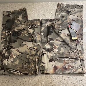 Under Armour UA Men Storm Hardwoods STR Heatgear Forest Camo Pant SZ W36/32 $100