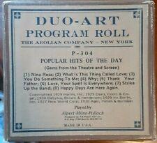 LONG PLAY PROGRAM ROLL POPULAR HITS #304 DUO-ART RECUT REPRODUCING PIANO ROLL