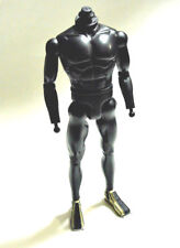 "1/6 12"" Advanced Nude Hasbro Black Body w/ boots for Gi Joe Star Wars Boba fett"
