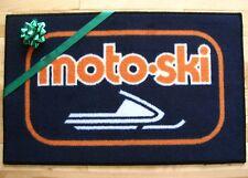 Moto-Ski Snowmobile Vintage Retro logo door mat
