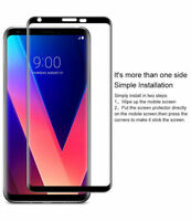 For LG V30 Full Sover 3D Curved Black Tempered Glass Screen Protector Film NEW