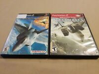 Lot of 2 PS2 (Playstation 2) Ace Combat Games 4 and 5 Tested Good