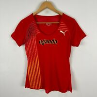 Puma Uganda Soccer Jersey Womens Medium red Short Sleeve Round Neck