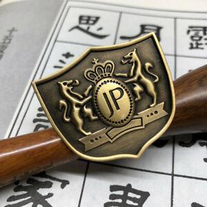 1Pcs JP Badge Bronze Totem Emblem For Fusa Kiku Knot Rearview Mirror Ornaments