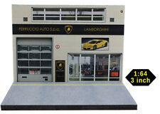 Diorama présentoir garage Lamborghini - 3 inch   1/64ème - #3in-2-K-K-001