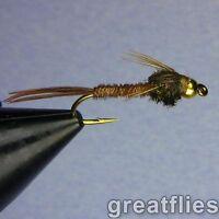 1 dozen (12) - Pheasant Tail Nymph - Bead Head