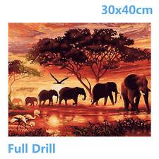 UK Full Drill Elephants 5D Diamond Painting Embroidery Cross Crafts Stitch Kit