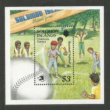 Solomon Is 1989 Children's Games ss--Attractive Sports Topical (652) MNH