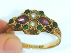 Antique 15ct Gold 15k Gold  Suffragette Ring Size O Hallmarked maker F & P