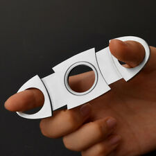 COHIBA Stainless Steel Pocket Cigar Cutter  Double Blades Scissors Shears