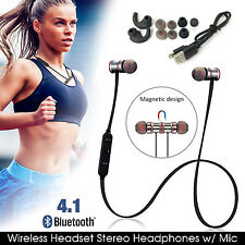 Magnetic Sports Wireless Bluetooth 4.1 Headset In-Ear Headphones/Earphone w/ Mic