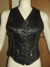 Rare! Steampunk! Vintage! Jean Paul Gaultier Junior Lady's Leather Vest Gilet 40