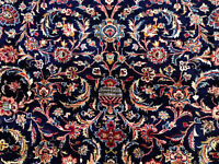 10x13 BLUE ANTIQUE PERSIAN RUG WOOL HAND KNOTTED ORIENTAL navy carpet 9x13 ft