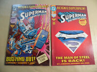 Superman Man of Steel #22 (DC 1993) Regular + Variant Cover / Free USA Shipping