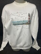 Vintage collared lighthouse sweatshirt