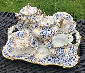 Paris c1840-60 Porcelain Dejeuner / Cabaret Set / Tea For Two.